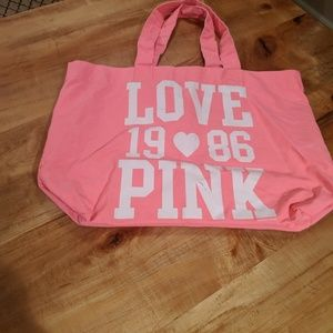 Pink Victoria's Secret tote bag